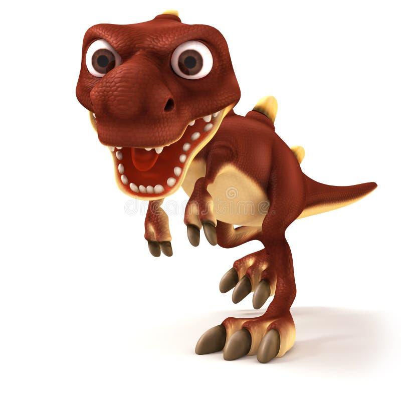 Dinosaurus che sembra pazzo royalty illustrazione gratis