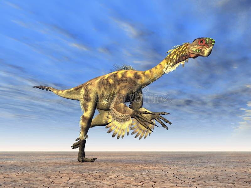 Dinosaurus Citipati royalty-vrije illustratie