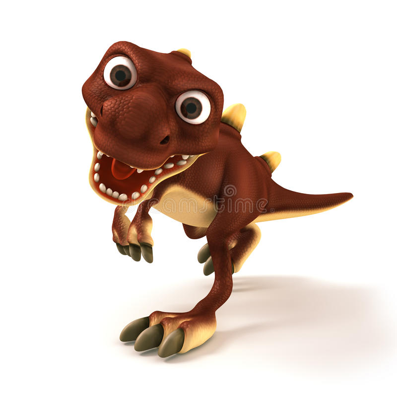 Dinosaurus, das wütend schaut lizenzfreie abbildung