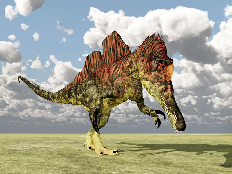 Download Dinosaurus Ichthyovenator stock illustratie. Illustratie bestaande uit computer - 54077019