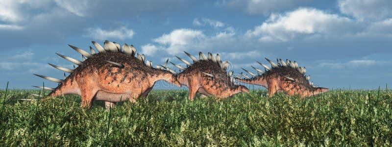 Dinosaurus Kentrosaurus stock illustratie