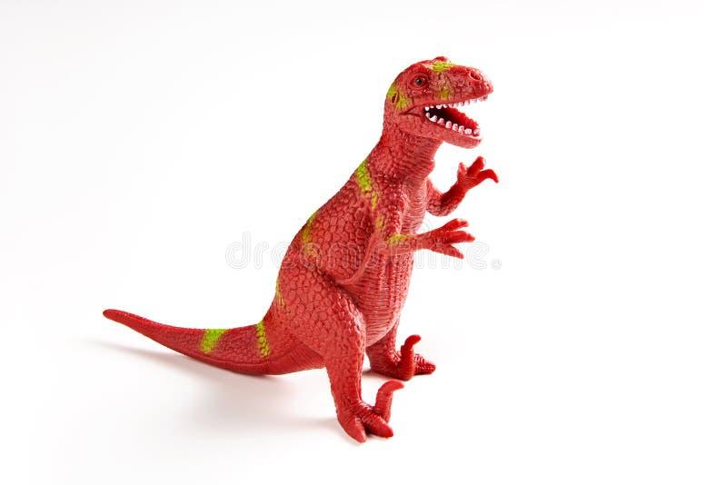 Dinosaurus rubberstuk speelgoed stock foto's