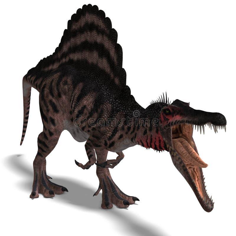 Dinosaurus Spinosaurus vector illustratie