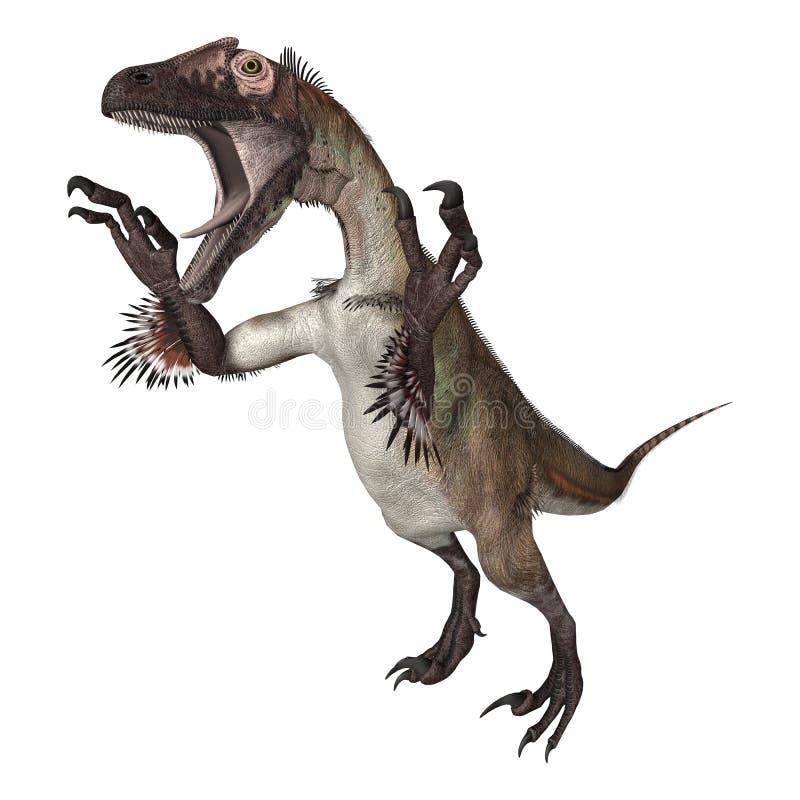 Dinosaurus Utahraptor royalty-vrije illustratie