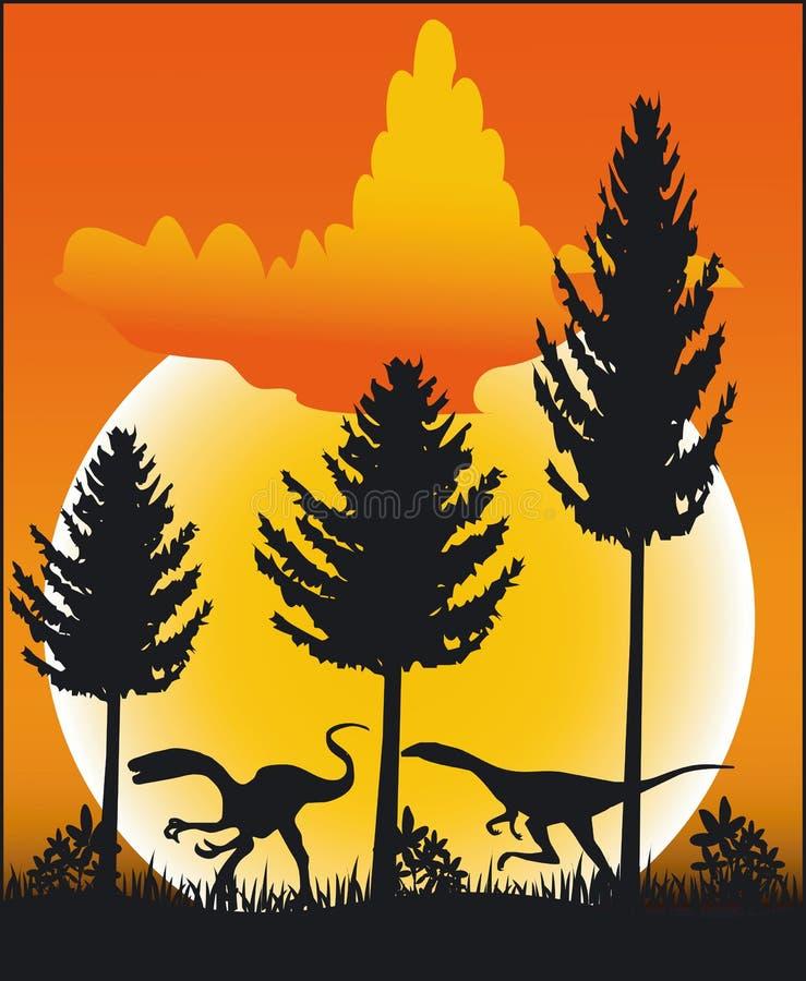 Dinosaurus - Vector vector illustratie