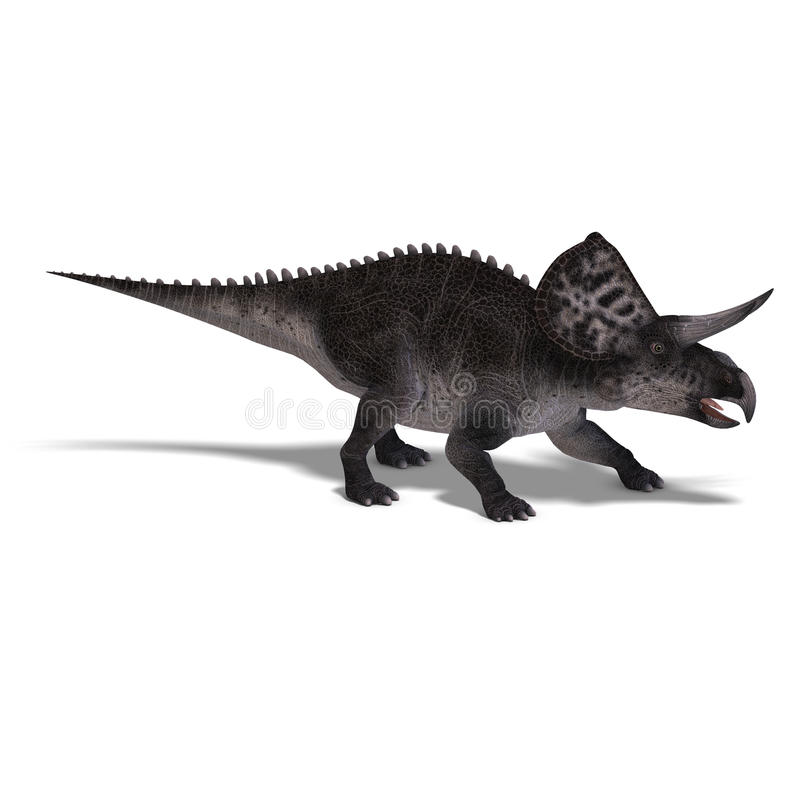 Dinosaurus Zuniceratops vector illustratie