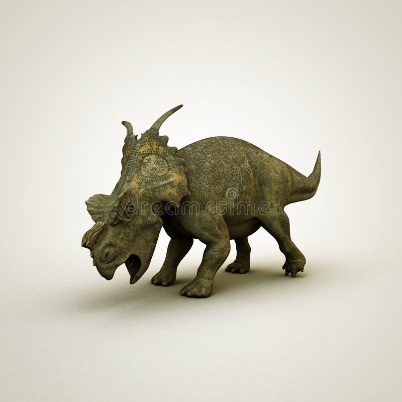 Dinosaurusachelousaurus vector illustratie