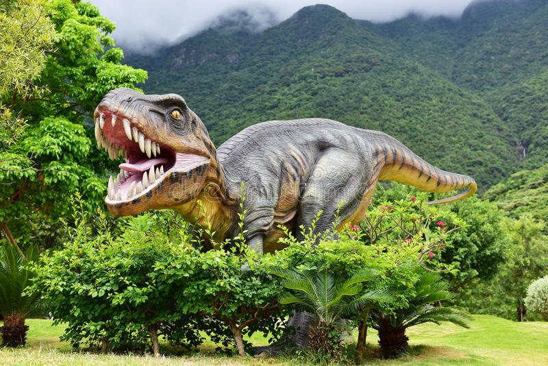 Dinosaurusbeeldhouwwerk
