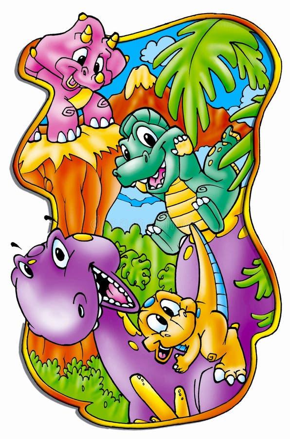Dinosauruseiland stock illustratie