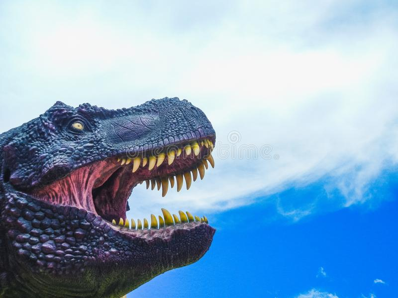 Dinosaurusmodel in krijtachtig park van cal orcko Bolivië royalty-vrije stock afbeeldingen