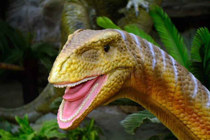 Dinosaurusmodel, Peking, China royalty-vrije stock afbeeldingen