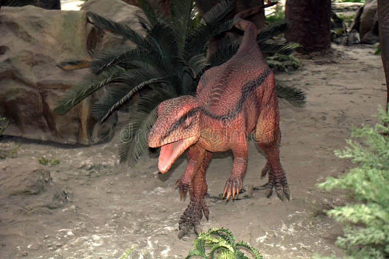 Dinosaurusmodellen, Peking, China royalty-vrije stock foto's