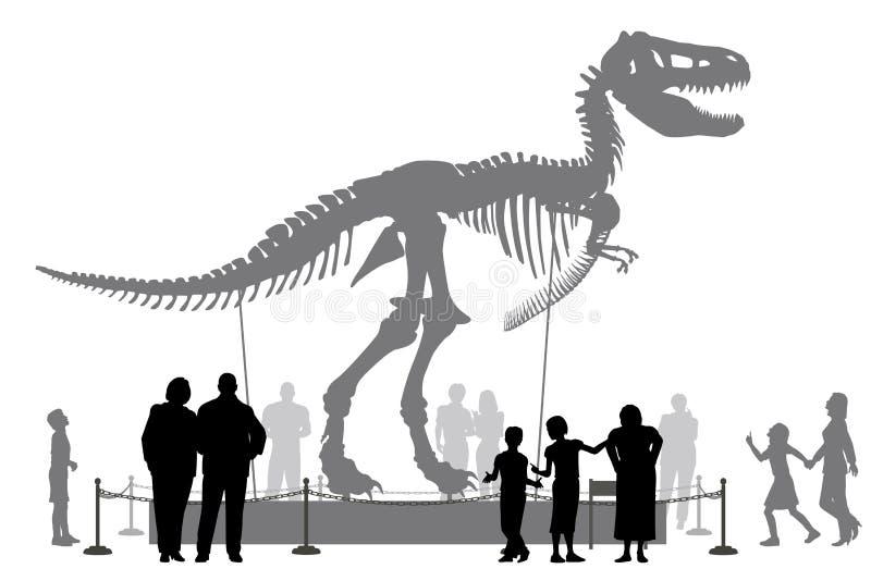 Dinosaurusmuseum stock illustratie
