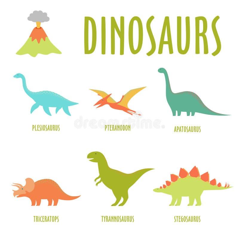 dinosaurussen royalty-vrije illustratie