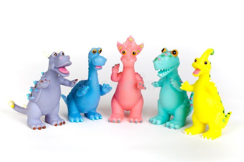 Dinosaurusspeelgoed stock fotografie