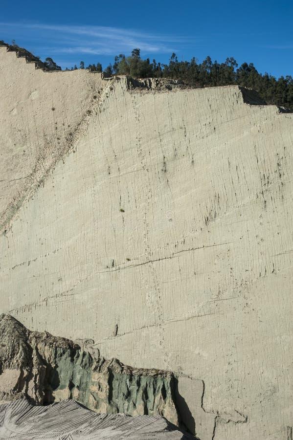 Dinosaurussporen op de Klip van Cal Orck ` o, Krijtachtig Park in Sucre royalty-vrije stock foto's