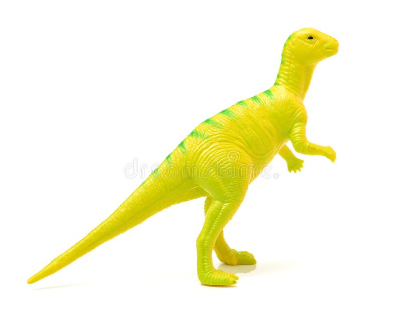 Dinosaurusstuk speelgoed plastic cijfers stock afbeeldingen