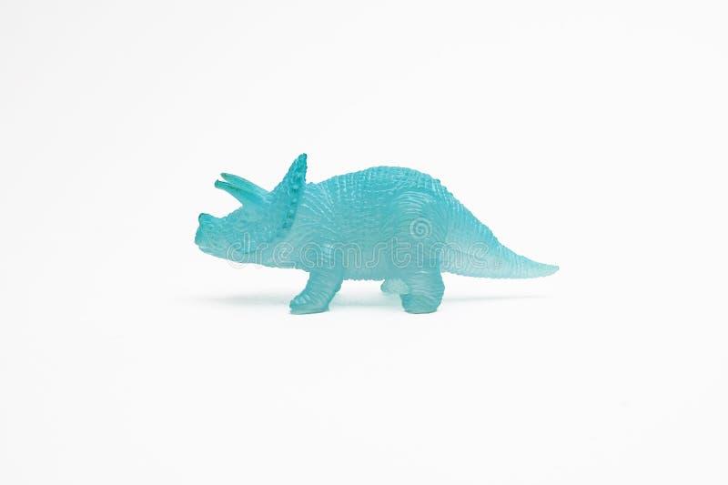 Dinosaurusstuk speelgoed plastic cijfers royalty-vrije stock afbeelding