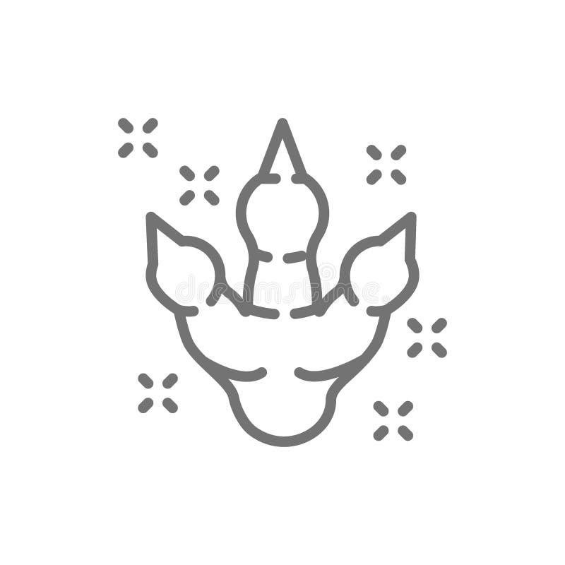 Dinosaurusvoetafdruk, het voorhistorische pictogram van de tijdlijn stock illustratie