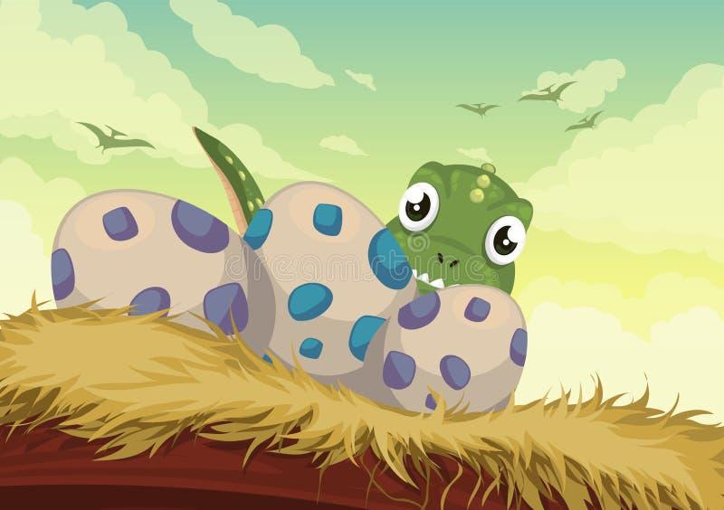 Dinosaurvektor stock illustrationer