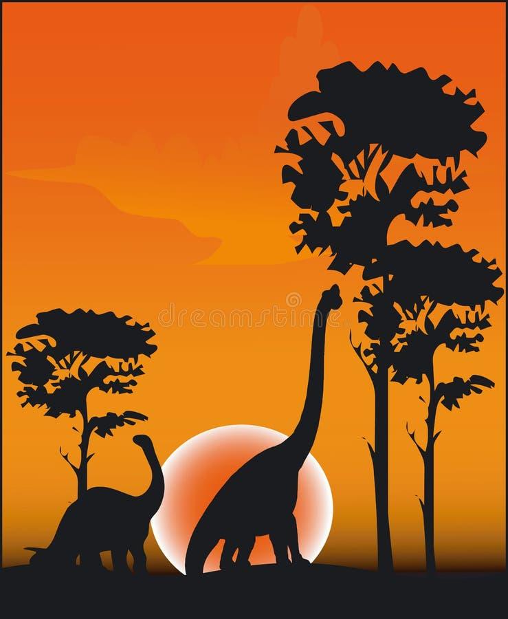 dinosaurvektor vektor illustrationer