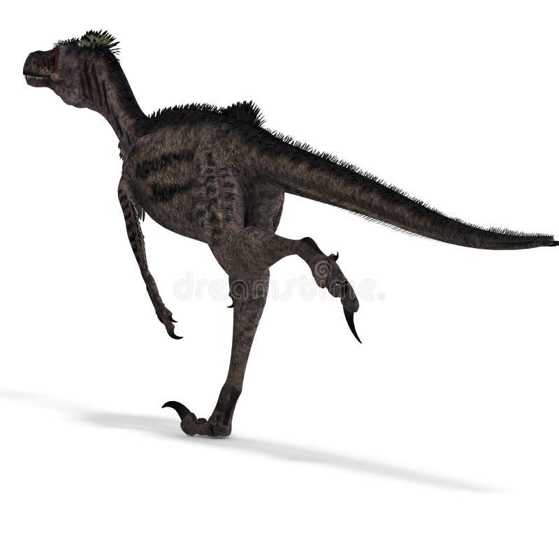 dinosaurvelociraptor royaltyfri illustrationer