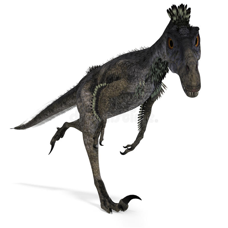 dinosaurvelociraptor vektor illustrationer