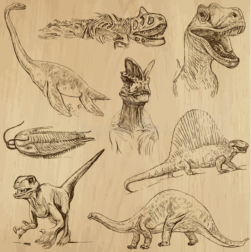 Dinosaury 1 ilustracja wektor