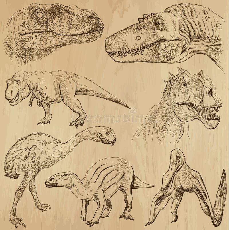 Dinosaury 2 ilustracja wektor