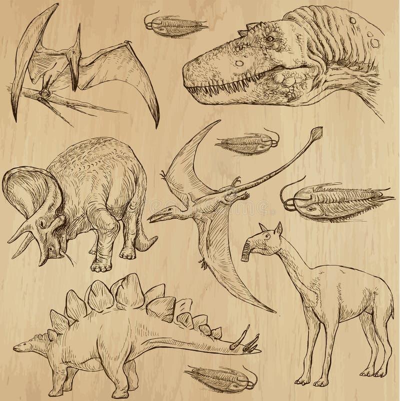 Dinosaury 4 ilustracja wektor