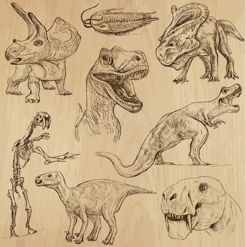 Dinosaury 3 ilustracja wektor