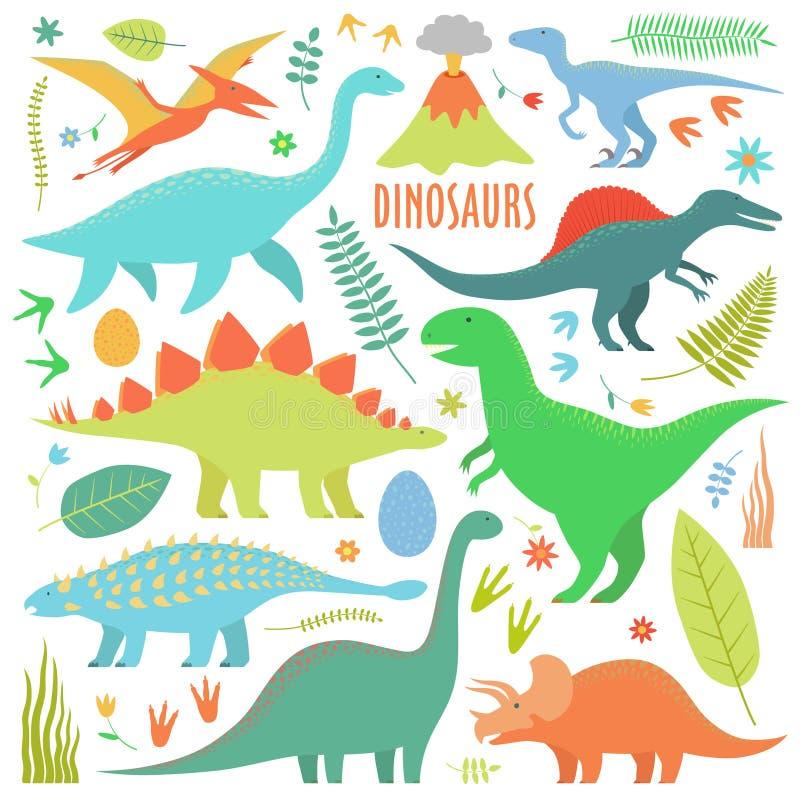 Dinosaury arial ilustracja wektor