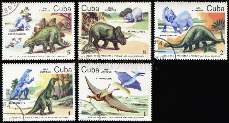 Dinosaury prehistoryczny okres fotografia royalty free