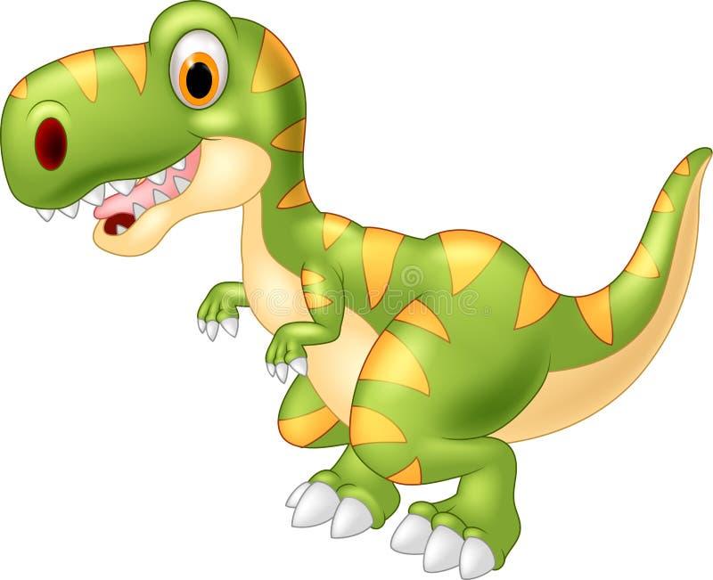 Dinossauro adorável dos desenhos animados ilustração stock