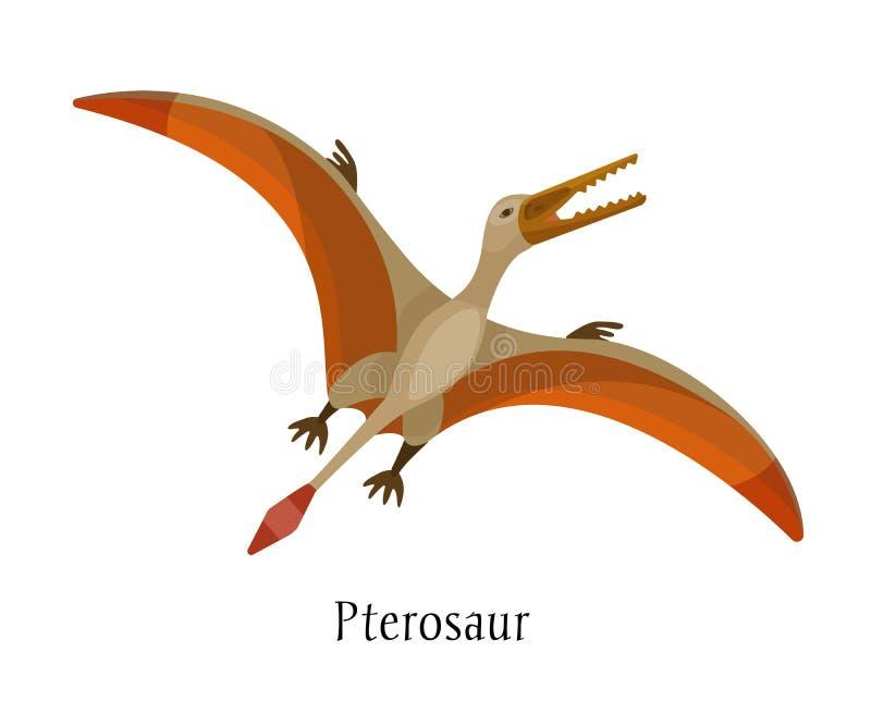 Dinossauro animal pré-histórico antigo Dinossauro selvagem grande Pterosaur do ar ilustração stock