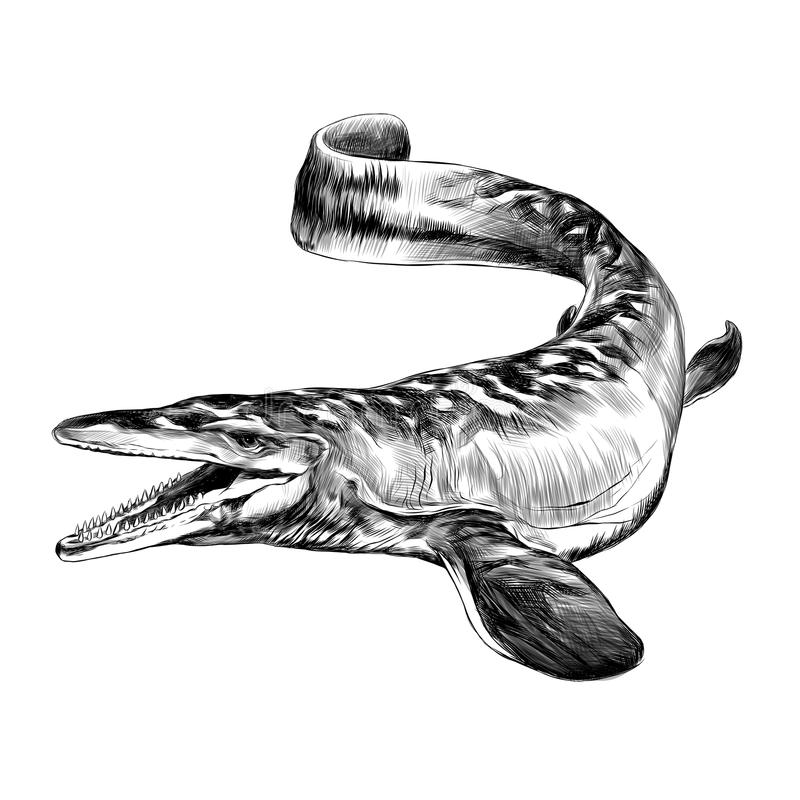 Dinossauro aquático ilustração royalty free