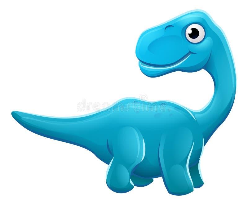 Dinossauro bonito dos desenhos animados do Sauropod ilustração do vetor