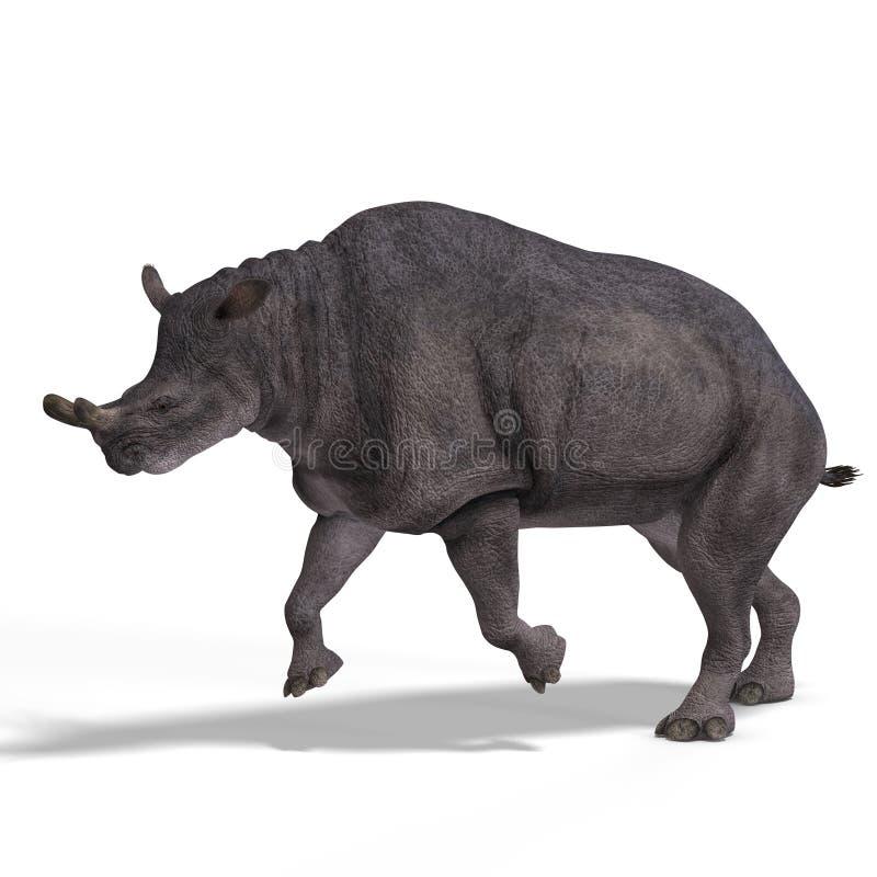 Dinossauro Brontotherium ilustração do vetor