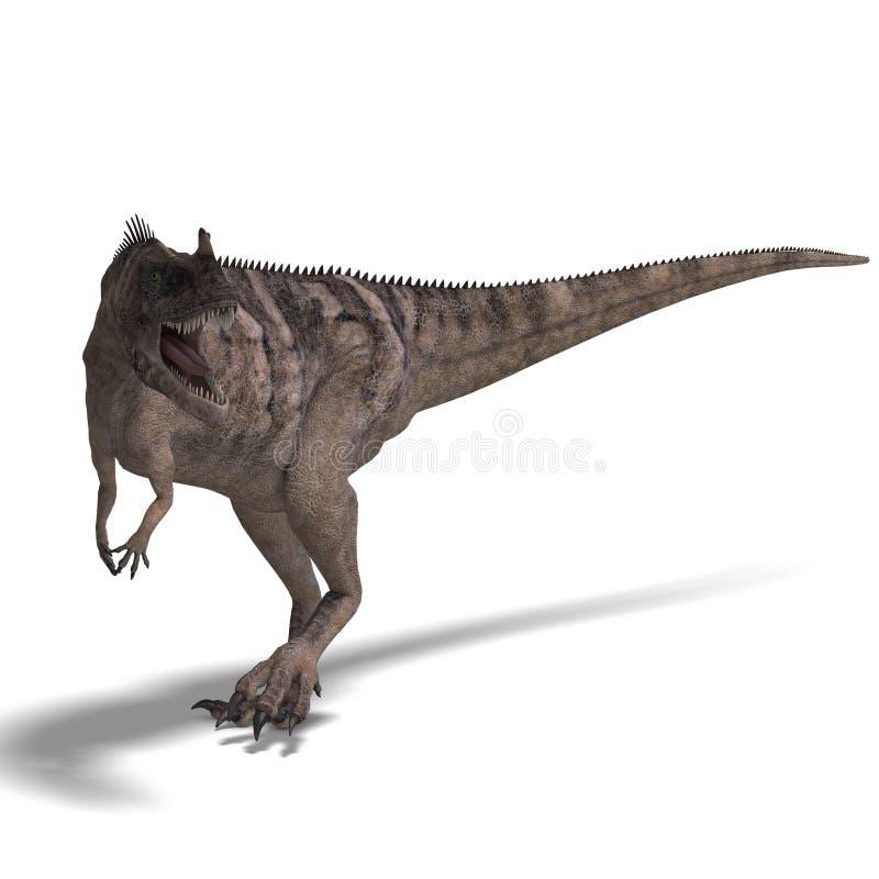 Dinossauro Ceratosaurus ilustração do vetor