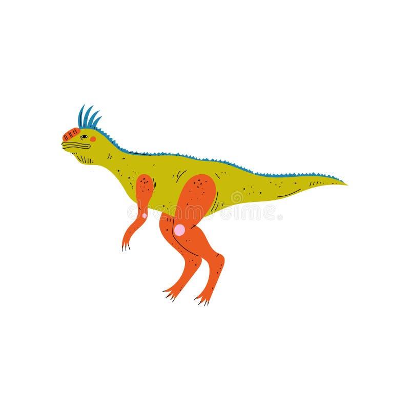 Dinossauro colorido de Tsintaosaurus, ilustração animal pré-histórica bonito do vetor ilustração do vetor