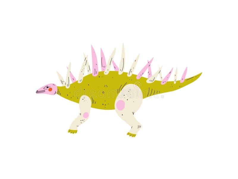 Dinossauro colorido do Carnotaurus, ilustração animal pré-histórica bonito do vetor ilustração royalty free