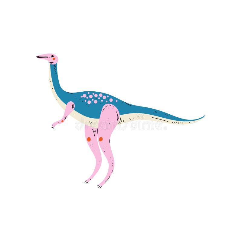 Dinossauro colorido do Diplodocus, ilustração animal pré-histórica bonito do vetor ilustração stock