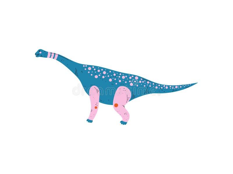 Dinossauro colorido do tiranossauro, ilustração animal pré-histórica bonito do vetor ilustração stock