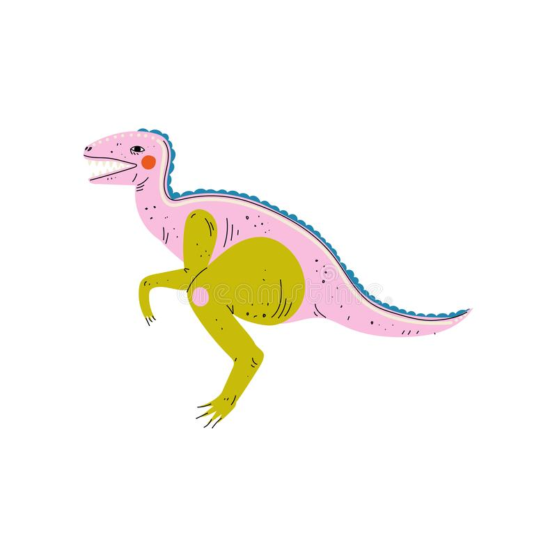 Dinossauro colorido do Velociraptor, ilustração animal pré-histórica bonito do vetor ilustração royalty free
