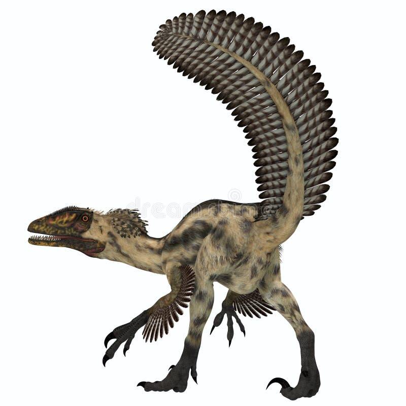 Dinossauro de Deinonychus ilustração stock
