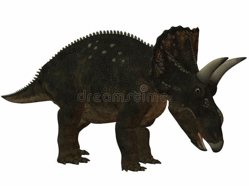 Dinossauro de Diceratops-3D ilustração stock