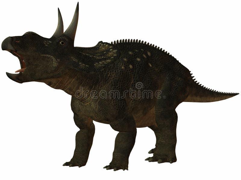Dinossauro de Diceratops-3D ilustração royalty free
