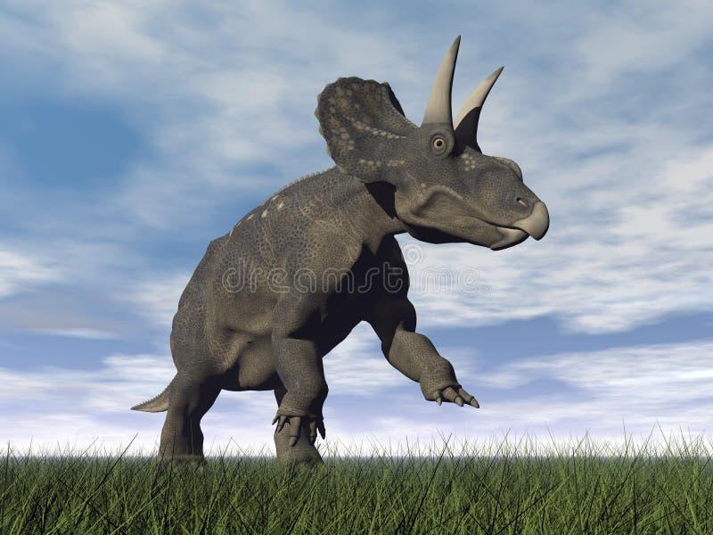 Dinossauro de Diceratops - 3D rendem ilustração do vetor