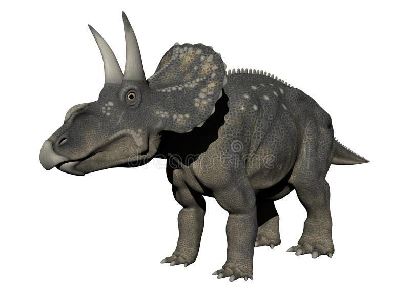 Dinossauro de Diceratops - 3D rendem ilustração stock