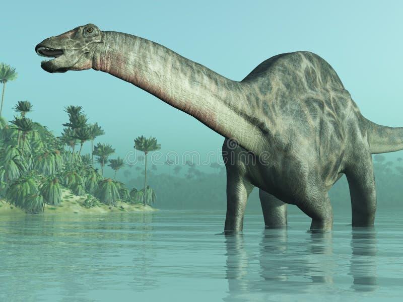 Dinossauro de Dicraeosaurus ilustração royalty free